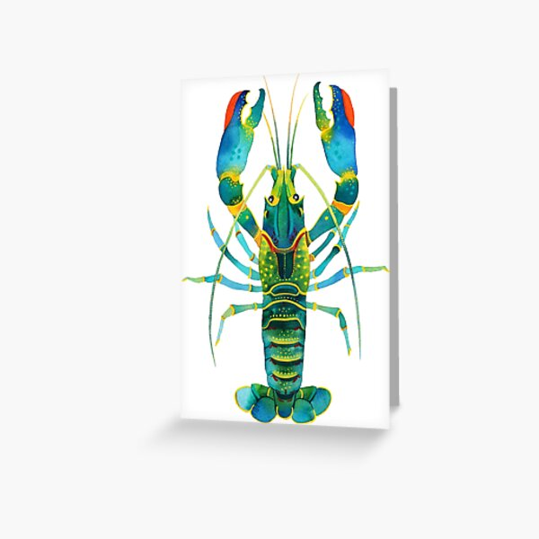 Turquoise Lobster Greeting Card