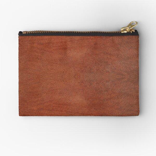 skin, skin pattern, diamond, brilliant, rock, adamant, minikin, watch face, clock face, brown leather, leather Zipper Pouch