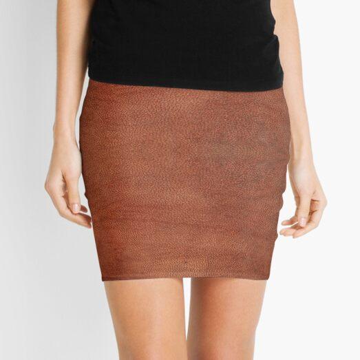 skin, skin pattern, diamond, brilliant, rock, adamant, minikin, watch face, clock face, brown leather, leather  Mini Skirt