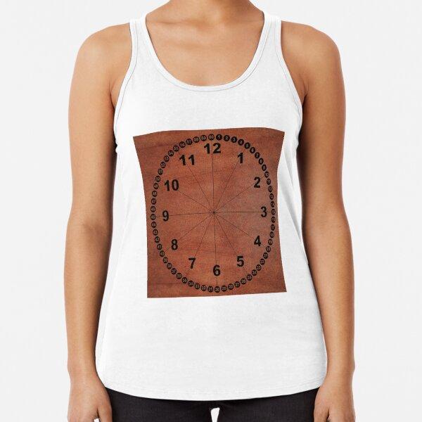 skin, skin pattern, diamond, brilliant, rock, adamant, minikin, watch face, clock face, brown leather, leather Racerback Tank Top