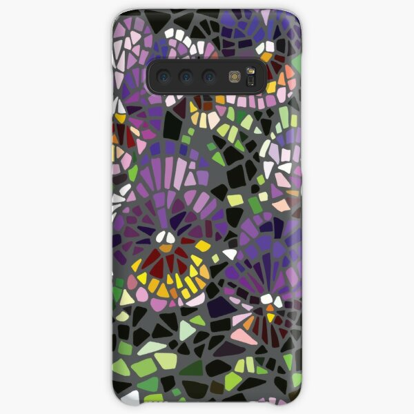 mosaic purple pansy Samsung Galaxy Snap Case