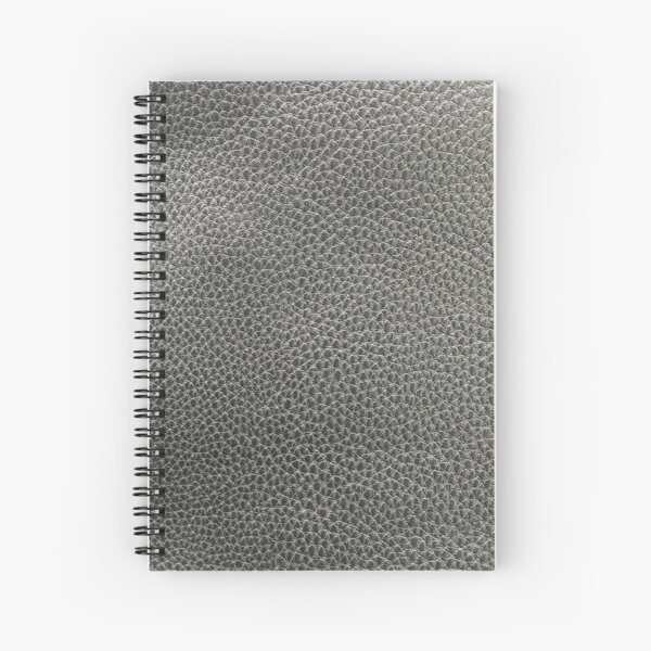skin, skin pattern, diamond, brilliant, rock, adamant, minikin, watch face, clock face, brown leather, leather, asphalt Spiral Notebook