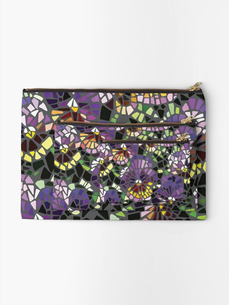 Alternative Ansicht von Mosaik lila Stiefmütterchen Täschchen