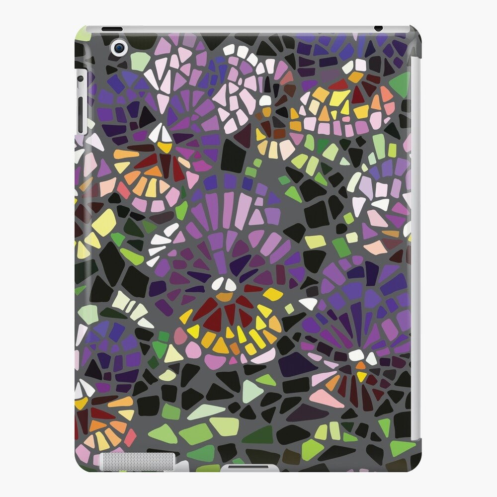 Mosaik lila Stiefmütterchen iPad-Hülle & Skin