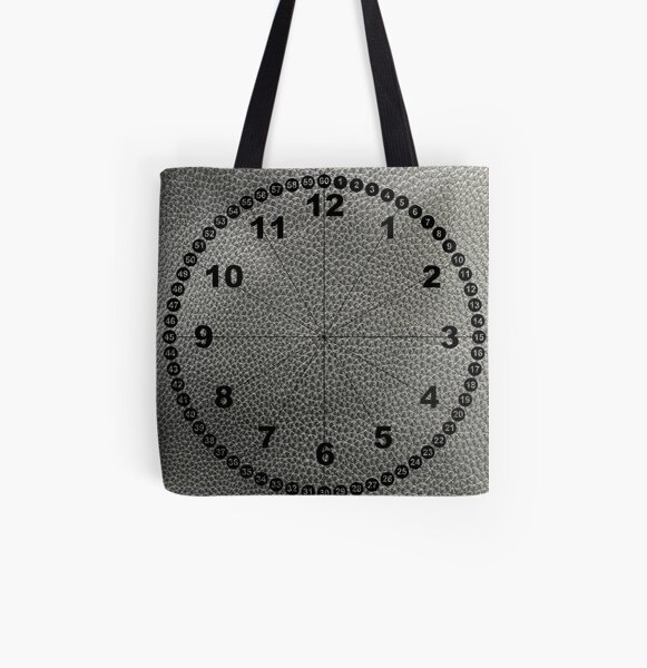 rock, adamant, minikin, watch face, clock face, brown leather, leather, asphalt All Over Print Tote Bag