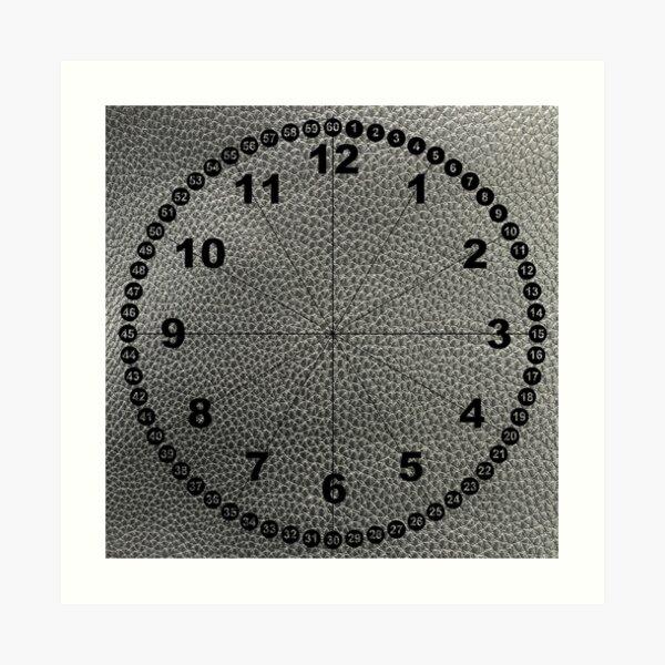 rock, adamant, minikin, watch face, clock face, brown leather, leather, asphalt Art Print