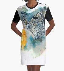 The Butterfly  Graphic T-Shirt Dress