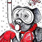Scuba Dooby Dog by Shawna Rowe