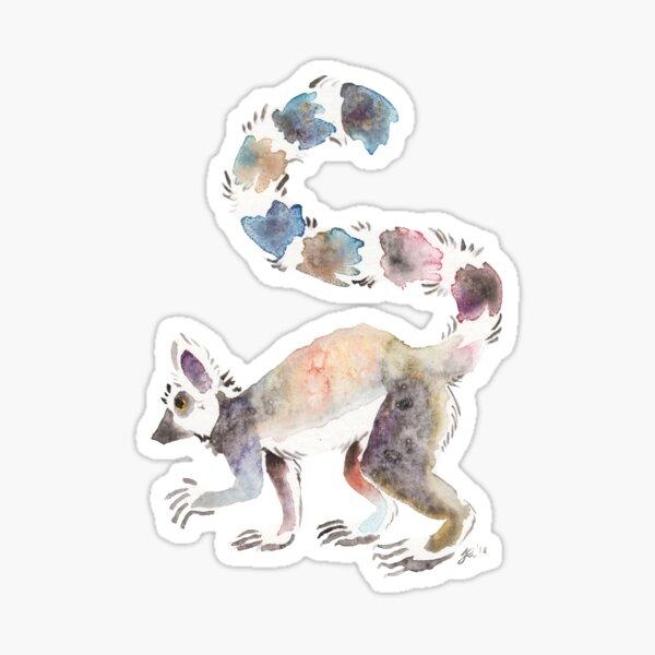 Splotchy Lemur Sticker