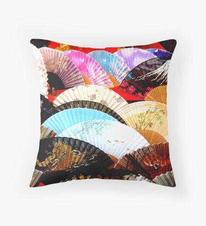 Colourful fans Throw Pillow