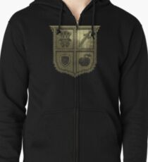3D DOT GOLD SHIELD Zipped Hoodie