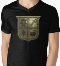 3D DOT GOLD SHIELD Men's V-Neck T-Shirt