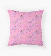 Pink Stars, Magic, Stardust [Princess] Throw Pillow