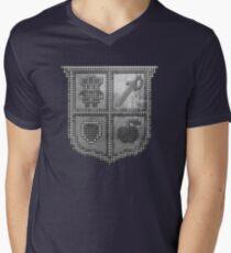 3D DOT SILVER SHIELD Men's V-Neck T-Shirt