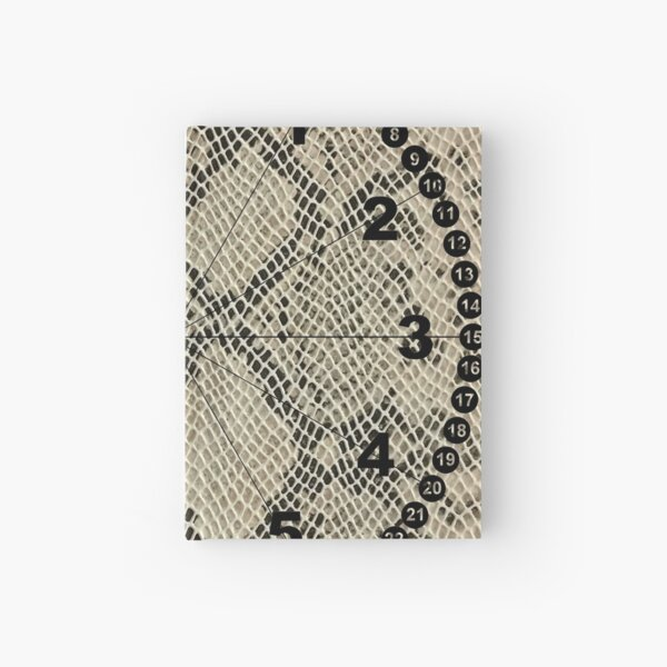 clock face, brown leather, leather, asphalt Hardcover Journal