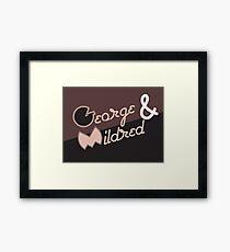George & Mildred Framed Print