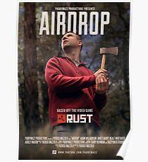 Póster Airdrop - Cartel de cortometrajes de óxido