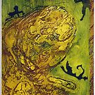 Cosmic Dance, Yellow-Green Print by MaritaChustak