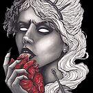 «chica lamiendo corazón» de Galbrin