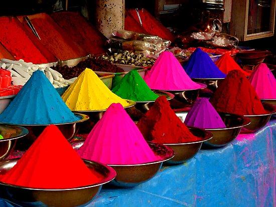 Colourful tikka powder by Tamara Travers