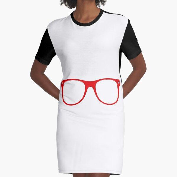 Glasses Graphic T-Shirt Dress