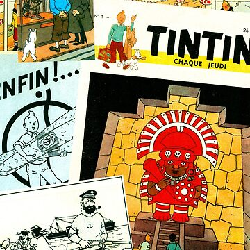 Tintin collage by AndrewsGamarra