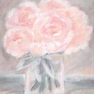 Pink Peony Bouquet - Pink Peony Painting by KristenLacziArt