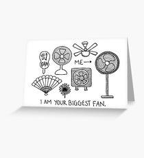 größter Fan Grußkarte