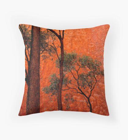 Trees and Uluru  Throw Pillow