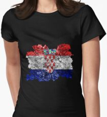 Croatia Vintage Flag Women's Fitted T-Shirt