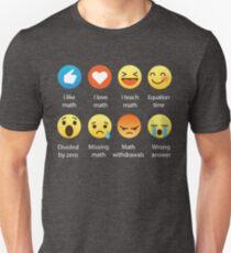 Ich liebe Mathe Emoji Emoticon Lustige Mathematik-Grafik T Shirts Sarkastisch Unisex T-Shirt
