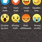 I Love Math Emoji Emoticon Funny Mathematics Graphic Tee Shirts Sarcastic by DesIndie