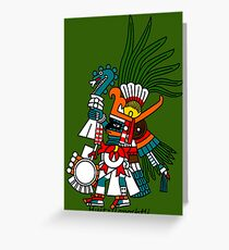 Aztec Art: Huitzilopochtli Greeting Card