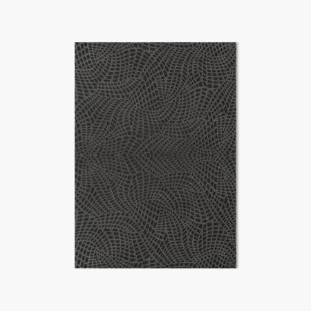 minikin, watch face, clock face, brown leather, leather, asphalt Art Board Print