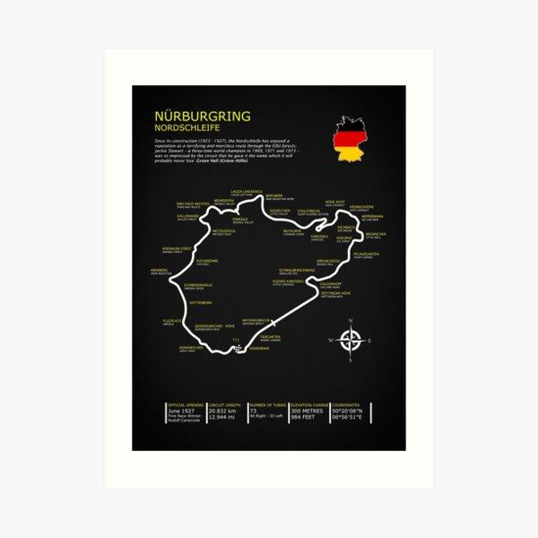 El Nurburgring Lámina artística