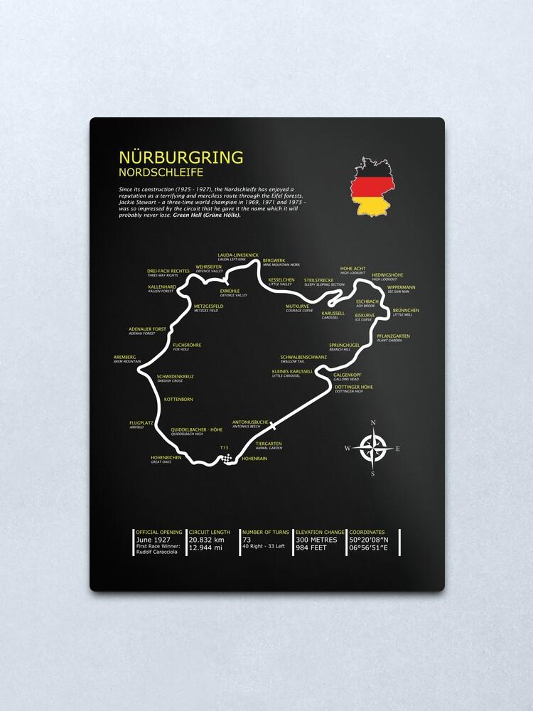 Alternate view of The Nurburgring Metal Print