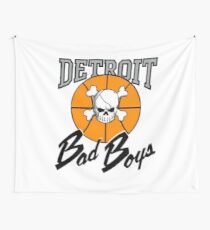 Vintage Detroit Bad Boys Detroit Pistons Basketball Wall Tapestry