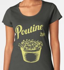 Poutine Premium Rundhals-Shirt