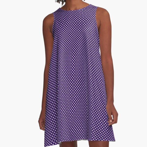 Purple Polka Dot Dress A-Line Dress