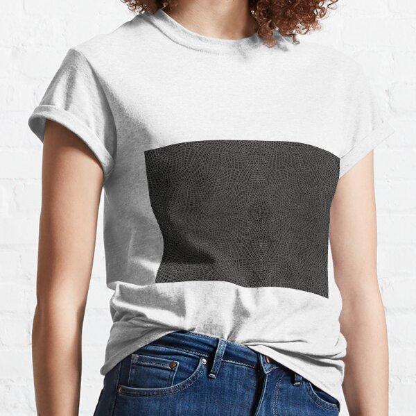 skin pattern, diamond, brilliant, rock, adamant, minikin, watch face, clock face, brown leather, leather, asphalt Classic T-Shirt