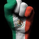 Flagge von Mexiko auf einer angehobenen geballten Faust von jeff bartels