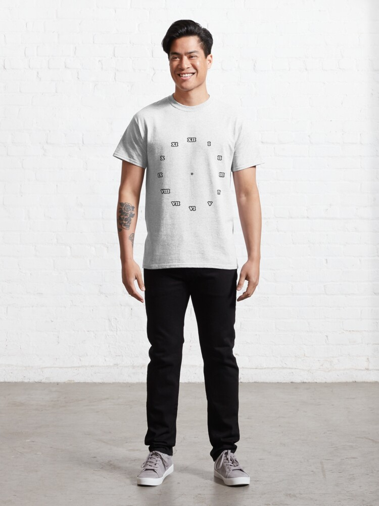 Alternate view of brilliant, rock, adamant, minikin, watch face, clock face, brown leather, leather, asphalt Classic T-Shirt
