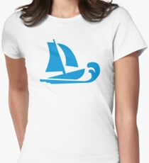 Sailing boat wave Womens Fitted T-Shirt