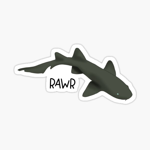Nurse Shark Says Rawr Sticker