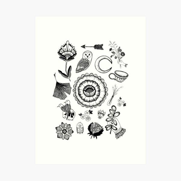 floral flash, pt 2 Art Print