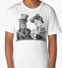 The Owl and the Pussycat | Black and White Long T-Shirt
