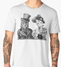 The Owl and the Pussycat | Black and White Men's Premium T-Shirt