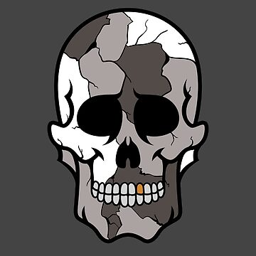 Grey Colored Camouflage Sugar Skull Design by allovervintage