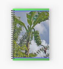 Bananas Against Clouds and Sky Spiral Notebook