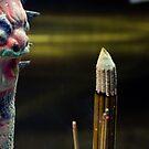 Dragon glaring at incense by richardseah